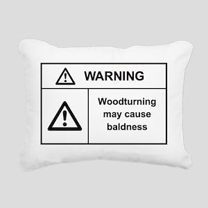 warningf Rectangular Canvas Pillow
