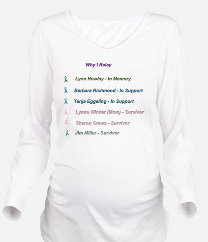In Memory and In Hon Long Sleeve Maternity T-Shirt