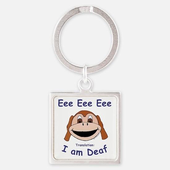 DEAF MONKEY Square Keychain