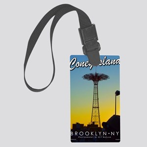 Poster-Coney-Parachute Large Luggage Tag
