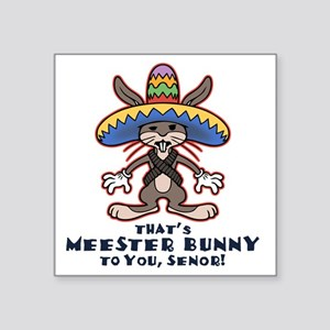"meester-bunny-LTT Square Sticker 3"" x 3"""