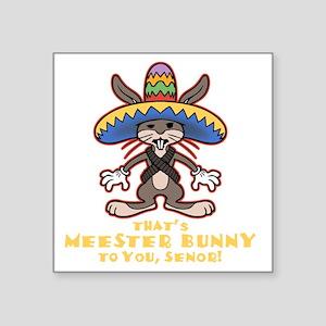"meester-bunny-DKT Square Sticker 3"" x 3"""