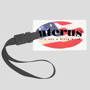 uterus_2 Large Luggage Tag