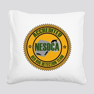 NEW NESDCA Bedbug Seal Square Canvas Pillow