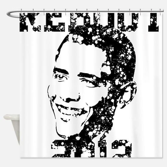 REBOOT 2012 Grunge Shower Curtain