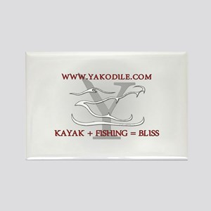 Yakodile Oval White 2 Rectangle Magnet