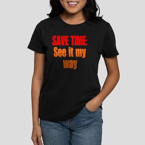 save-time_tall1 Women's Dark T-Shirt