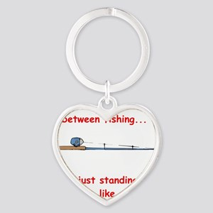 Fishing Line Red Heart Keychain