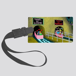 Tunnels Large Luggage Tag