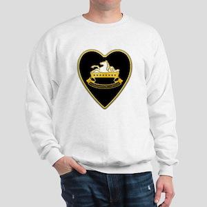 8th-Cavalry-Heart-neckless Sweatshirt