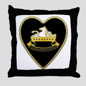 8th-Cavalry-Heart-neckless Throw Pillow