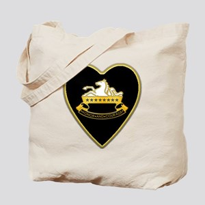8th-Cavalry-Heart-neckless Tote Bag