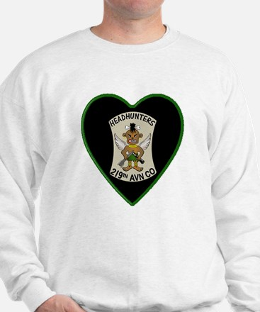 219th-RAC-Heart-neckless Sweatshirt