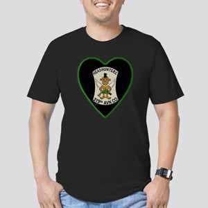 219th-RAC-Heart-neckle Men's Fitted T-Shirt (dark)