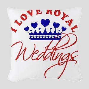 I Love Royal Weddings 1 Woven Throw Pillow