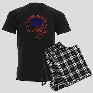 I Love Royal Weddings 1 Men's Dark Pajamas