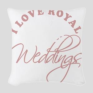 I Love Royal Weddings 2 copy Woven Throw Pillow