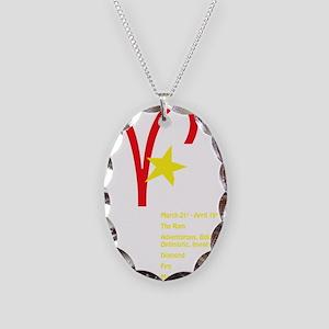 ariesdetaildark Necklace Oval Charm