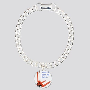 bt_truck_with_text Charm Bracelet, One Charm