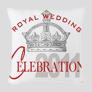 Royal Wedding Celebration 1 Woven Throw Pillow