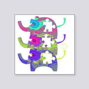 "autistic_28 Square Sticker 3"" x 3"""