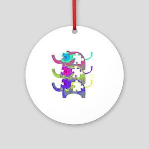 autistic_28 Round Ornament