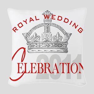 Royal Wedding Celebration 2 Woven Throw Pillow