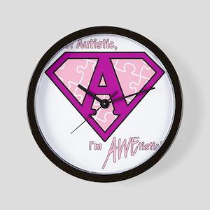 AWEtistic - pink - transp Wall Clock