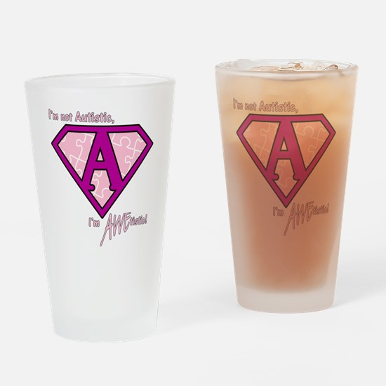 AWEtistic - pink - transp Drinking Glass