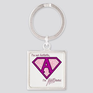 AWEtistic - pink - transp Square Keychain