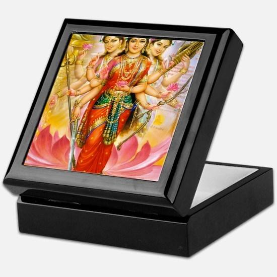 Tridevi_Hindu_Three_Goddesses_Stadium Keepsake Box