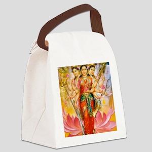 Tridevi_Hindu_Three_Goddesses_Sta Canvas Lunch Bag