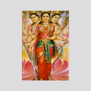 Tridevi_Hindu_Three_Goddesses_Sta Rectangle Magnet