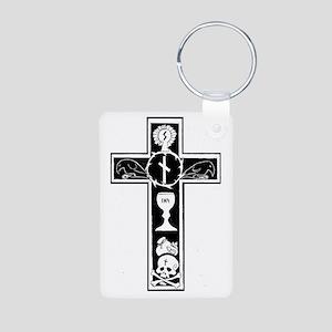 Totenkreuz Aluminum Photo Keychain