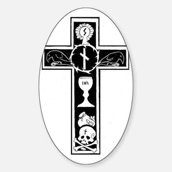 Totenkreuz Sticker (Oval)