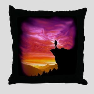Backpacker Overlook Tile Throw Pillow
