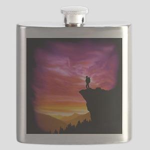 Backpacker Overlook Tile Flask