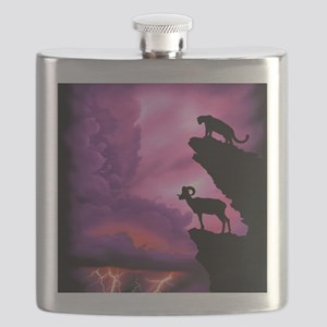 Lion and Ram Flask