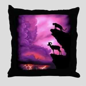 Lion and Ram Throw Pillow