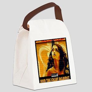 WAR WOMEN FREEDOM CAFE Canvas Lunch Bag