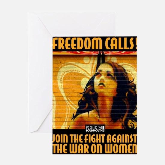 WAR WOMEN FREEDOM CAFE Greeting Card