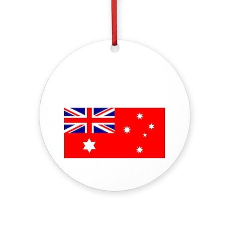 Flag_of_Australia_1901-1903_RED-DAR Round Ornament