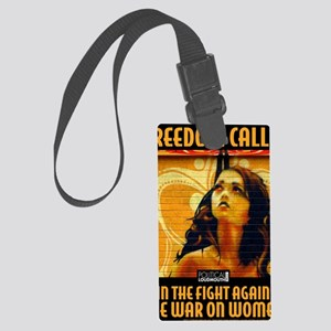 WAR WOMEN FREEDOM CAFE Large Luggage Tag