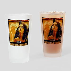 WAR WOMEN FREEDOM CAFE Drinking Glass