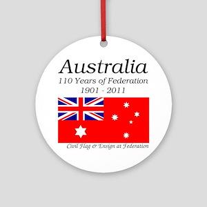 Flag_of_Australia_1901-1903_RED-LIG Round Ornament