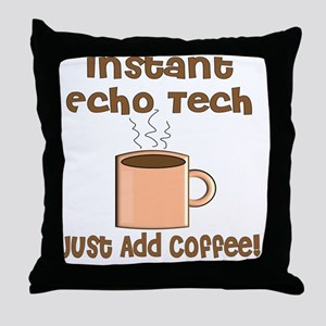Instant Echo Tech coffee Throw Pillow
