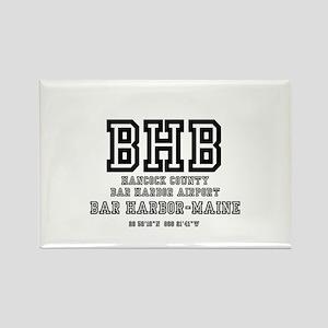 AIRPORT CODES - BHB - BAR HARBOR, Rectangle Magnet
