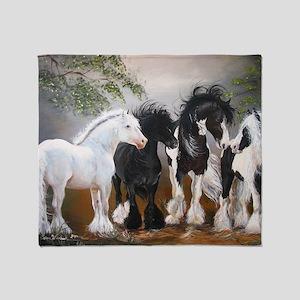 Stallions Throw Blanket