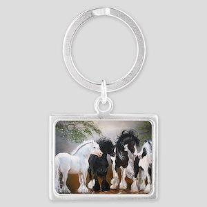 Stallions Landscape Keychain