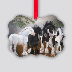 Stallions Picture Ornament
